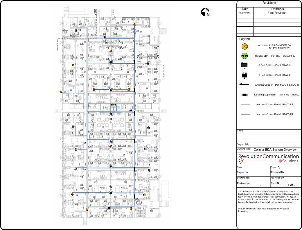 Cellular signal booster BDA system design Fort McMurray Alberta