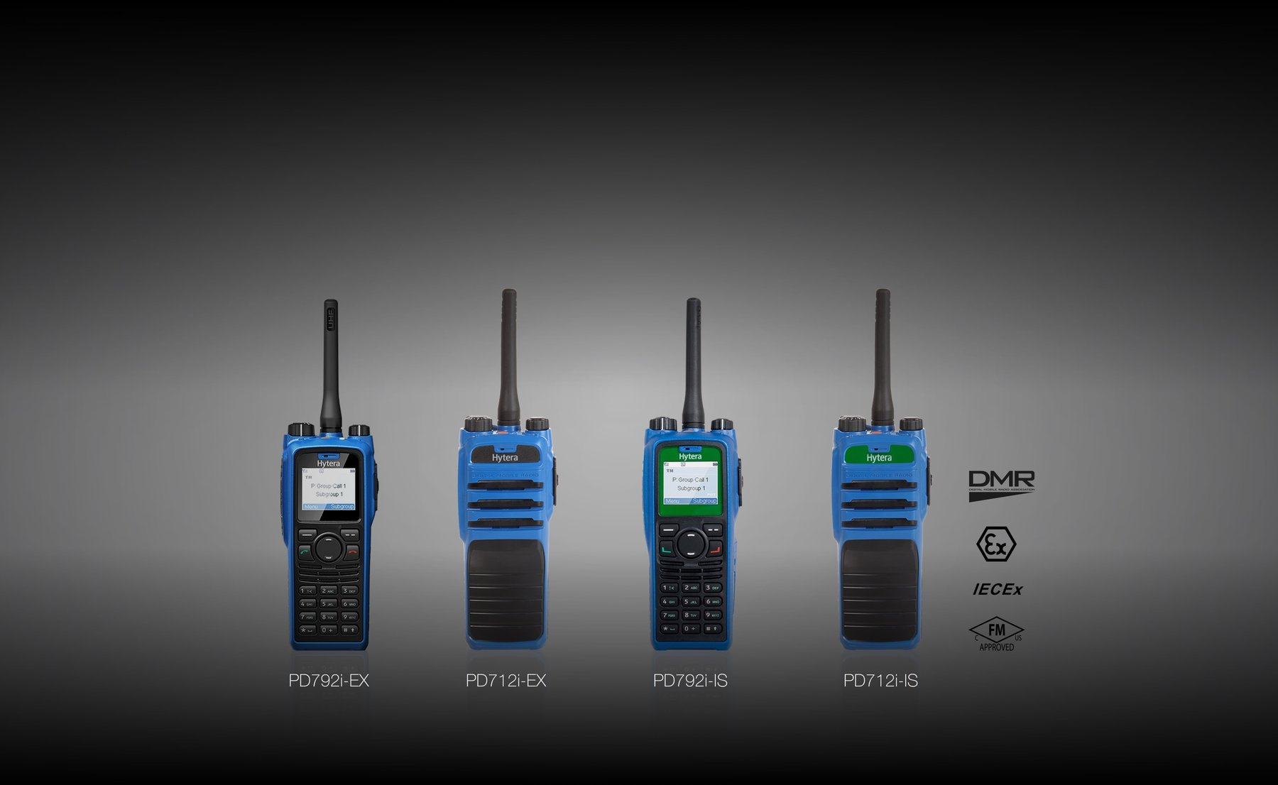 Advanced intrinsically safe DMR 2-way radio systems